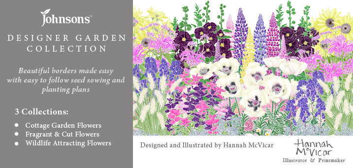 Designer Garden Collection - Beautiful borders made easy with easy to follow seed sowing and planting plans